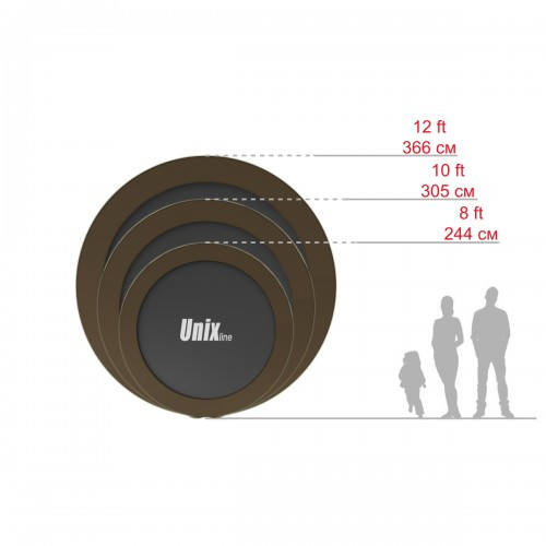 Батут UNIX line 10 ft Black&Brown (outside)