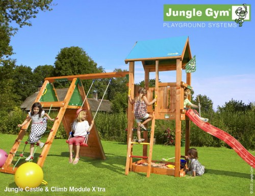 Детские городки Jungle Castle+Climb Module Xtra