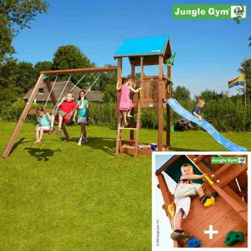Детские городки Jungle Castle+SwingModule Xtra+RockModule